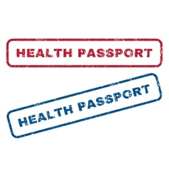 Health passport rubber stamps vector
