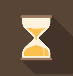 Hourglass icon with long shadow vector