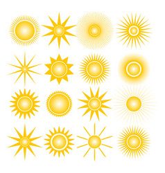 Icons of the sun vector