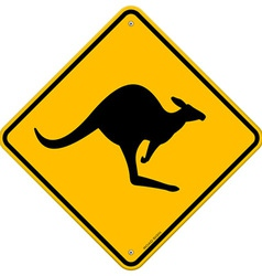 kangaroo sign vector image