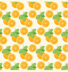 Orange fruit seamless pattern vector