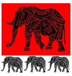 Ornament elephant vector