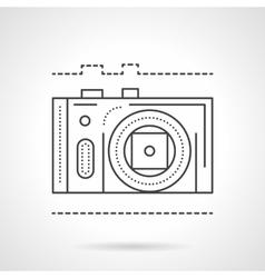 Photo camera line flat line icon vector image