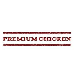 Premium chicken watermark stamp vector