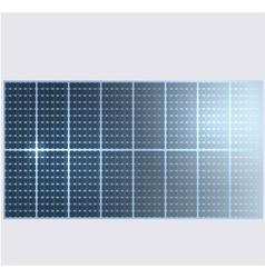 Reflection in solar panels vector