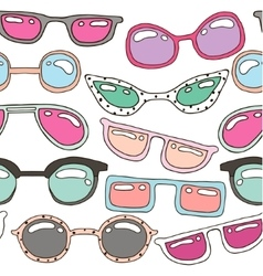 Seamless pattern with colorful pastel hand drawn vector image vector image