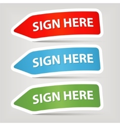 Sign here vector
