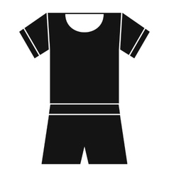 Sport shirt and shorts icon simple style vector