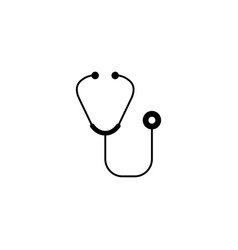 Stethoscope solid icon element of medical vector