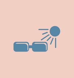 Sunglasses sun and glasses vector
