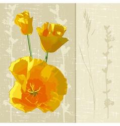 Sunny flowers vector