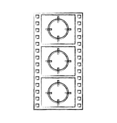 Tape record counter icon vector