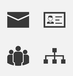 Trade icons set collection of group hierarchy vector