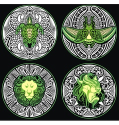 Tribal Amulets vector image vector image