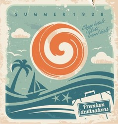 Vintage travel poster vector image