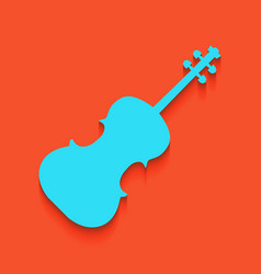 Violin sign whitish icon on vector