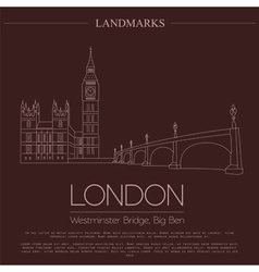 World landmarks London United KingdomWestminster vector image vector image