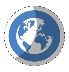 world web technical service icon vector image vector image