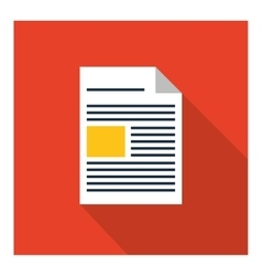 Piece of paper icon document design vector