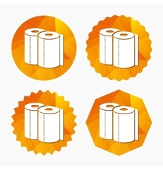 Paper towels sign icon kitchen roll symbol vector