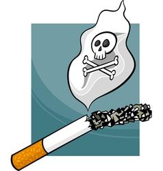 smoking harms cartoon vector image
