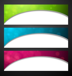 Set of colorful paper banners vector