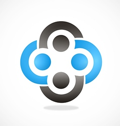 Circle group teamwork abstract logo vector