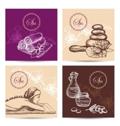 Spa cards set vector
