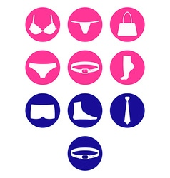 Set underwear and accessories vector