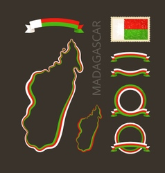 Colors of madagascar vector