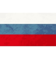 True proportions russia flag with texture vector
