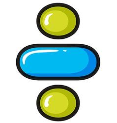 A divide symbol vector image vector image