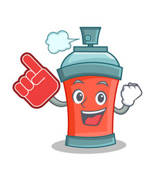 aerosol spray can character cartoon with foam vector image vector image