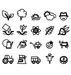 Agriculture and farm icons vector image