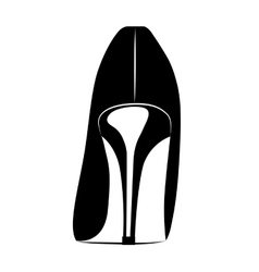 beautiful fashion heel isolated icon design vector image