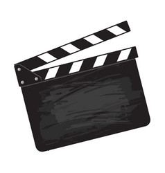 blank cinema production black clapper board vector image vector image