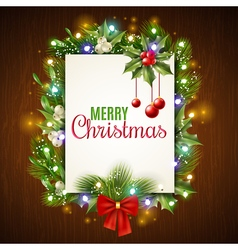 Christmas Holiday Frame vector image vector image