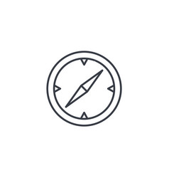 Compass navigation thin line icon linear vector