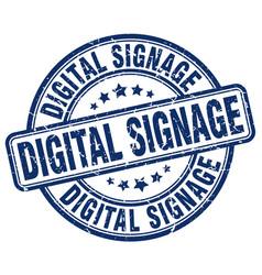 Digital signage blue grunge stamp vector
