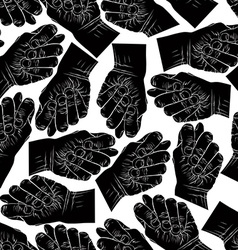Fig fico hands seamless pattern black and white vector