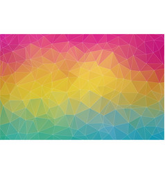 Flat 2d multicolor abstract triangle shape vector