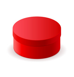 Gift box red round cardboard box vector
