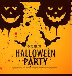 Halloween party grunge background vector