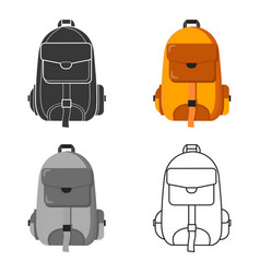 Hiking bag icon of for web and vector