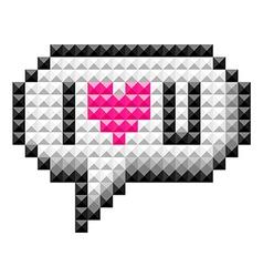 Icon bit love vector