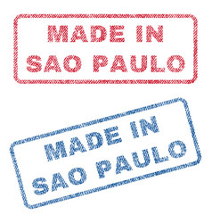 Made in sao paulo textile stamps vector