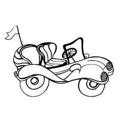 Monochrome Car Convertible vector image