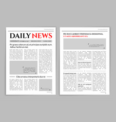 newspaper template design vector image