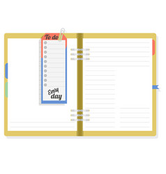 notepad with to do list to note the important vector image vector image