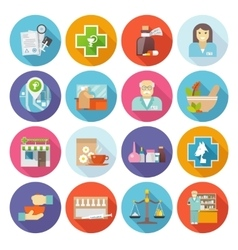 Pharmacist icons set vector
